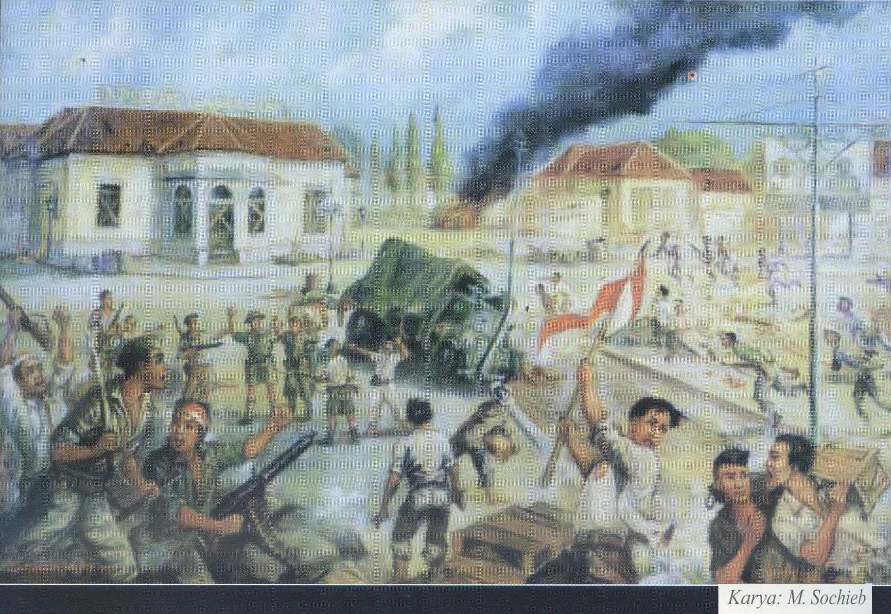 Peristiwa 10 November 1945 Dalam Lukisan Karya Sochieb Pusaka