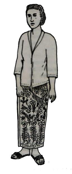 Pakaian Tradisi,wanita Dewasa, bangsawan, Madura